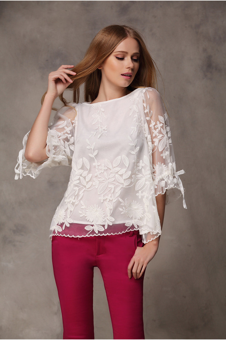 многообразию сортов, блузка кружевная белая фото гардеробе каждой