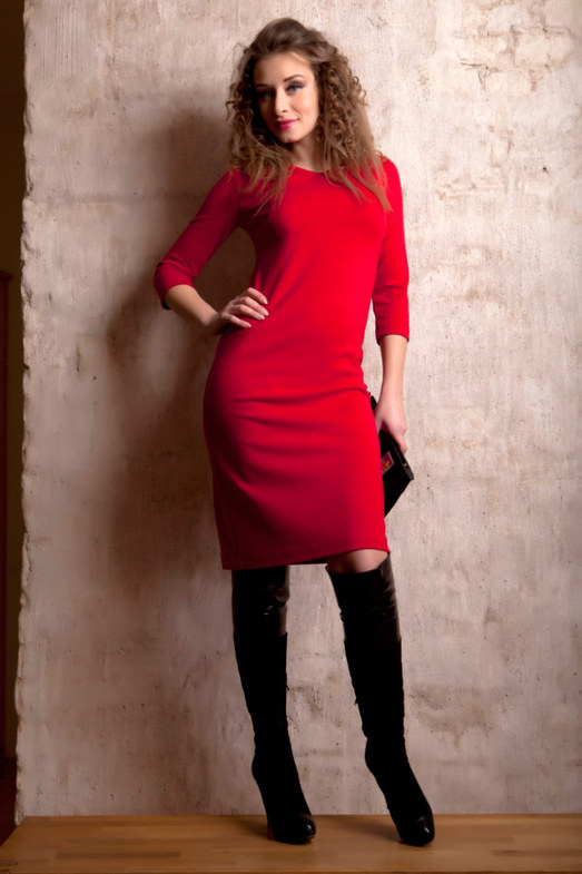 dd9aa30a68a «Красное красивое трикотажное платье » — карточка пользователя  Yhoncharenko10 в Яндекс.Коллекциях
