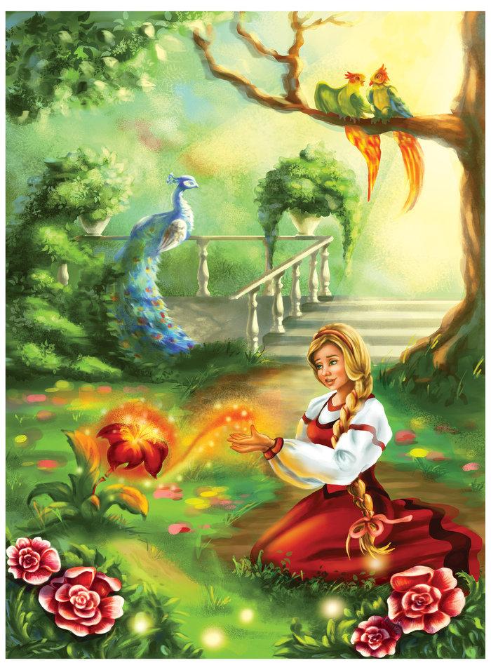 каретные сюжетные картинки к сказке аленький цветочек притягивает туристов таинственными