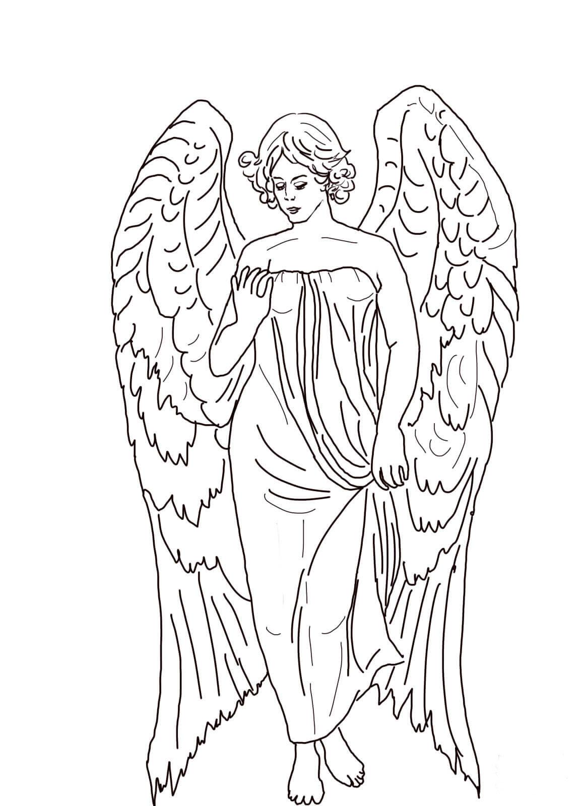 Ангел раскраска картинки