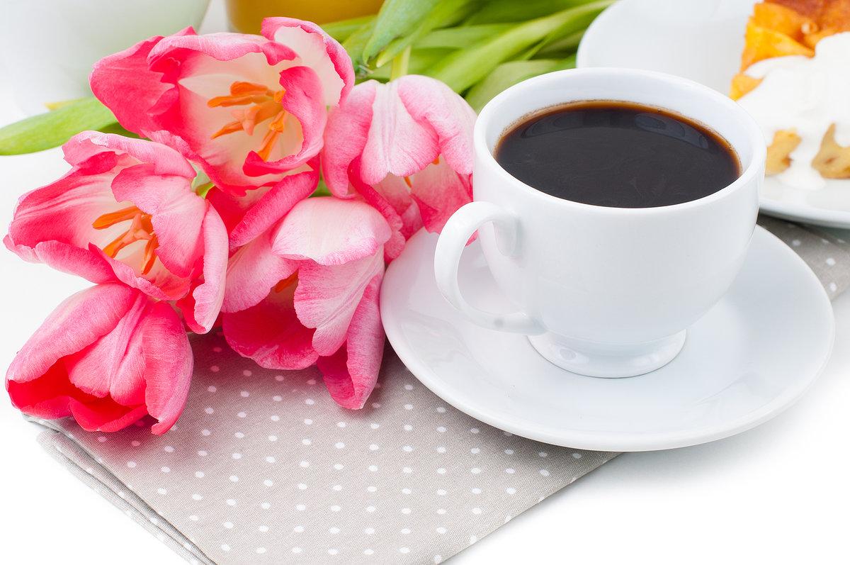 Открытка доброе утро цветы и кофе, сестре