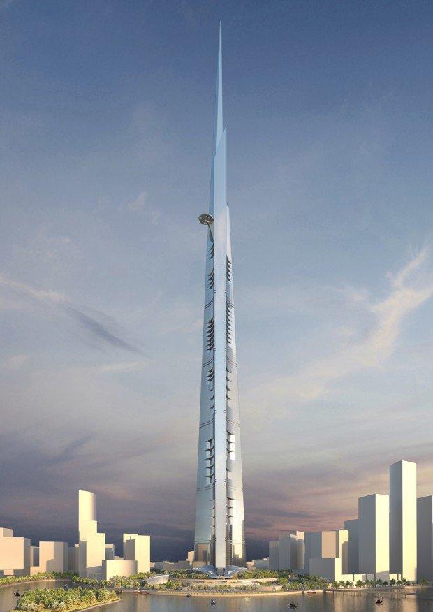 Королевская башня, которая по задумке архитекторов должна впоследствии  высотой около километра, что значительно выше 6846474c252