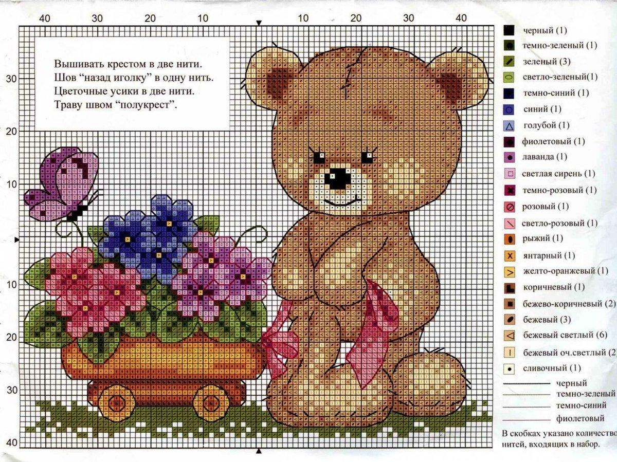 Бесплатная схема вышивания крестом букета роз с. - Pinterest 42