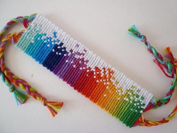 браслеты из ниток своими руками Card From User Elena