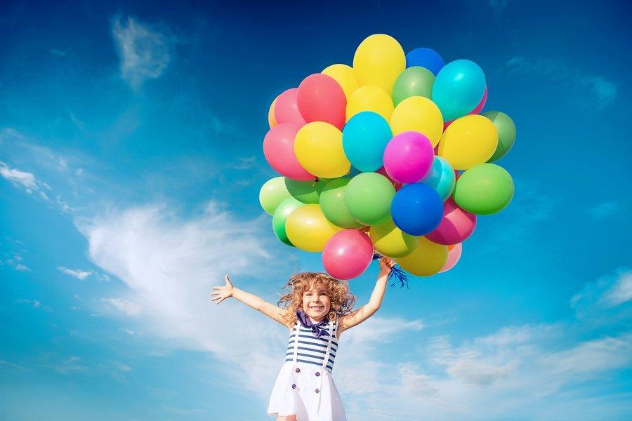Картинка дети с шариками, картинки днем свят