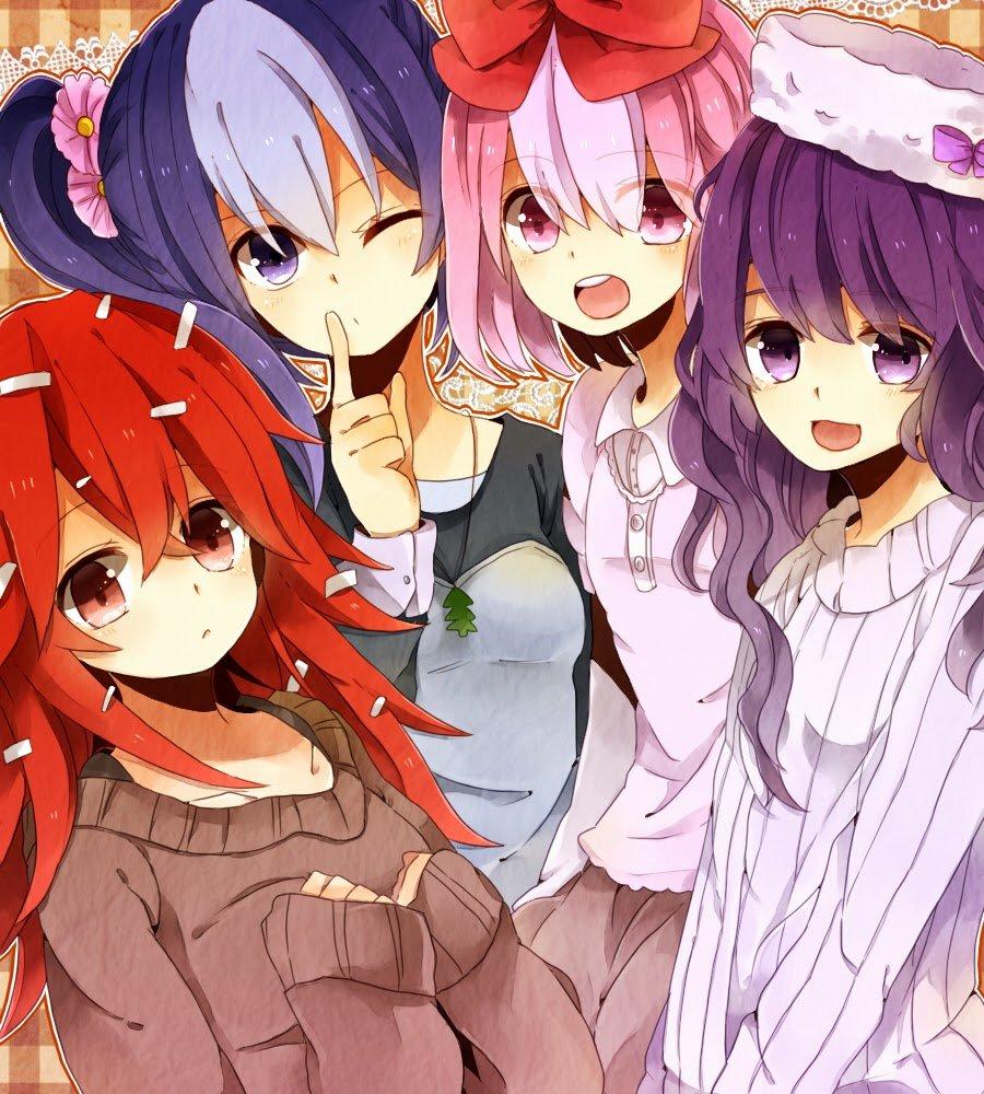 Картинка аниме друзей
