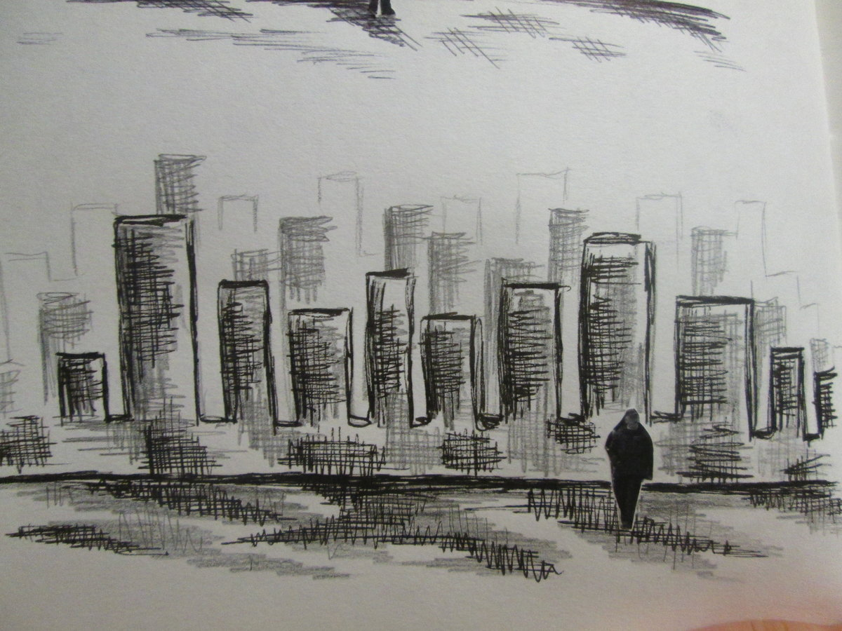 него картинки про город карандашом что
