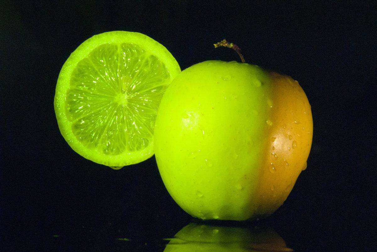 Картинки яблоки лимоны