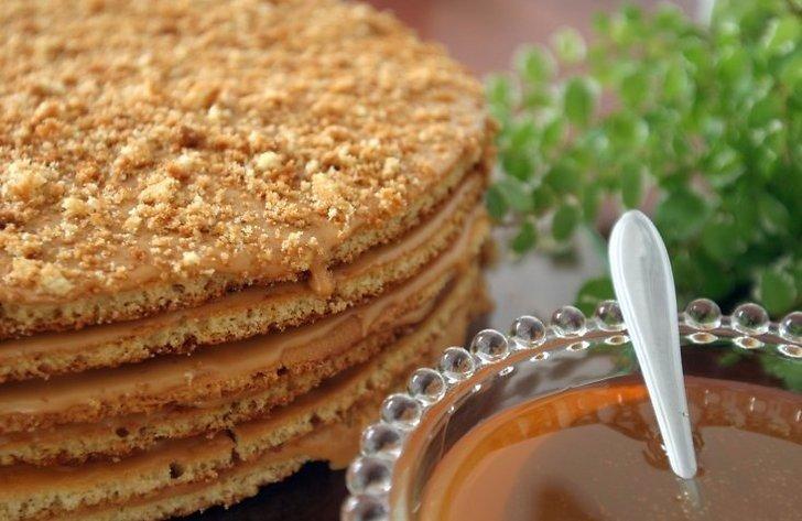 предстоит отработать медовый пирог рецепт с фото со сгущенкой крупного