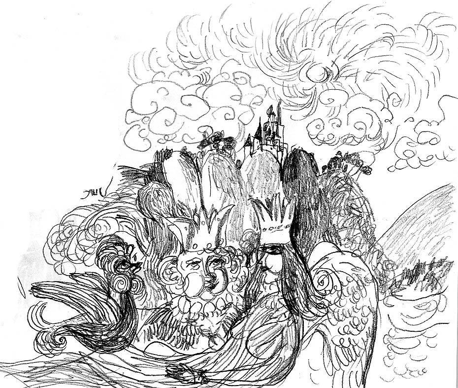 тесто части фото эскизов иллюстрации к сказкам результате