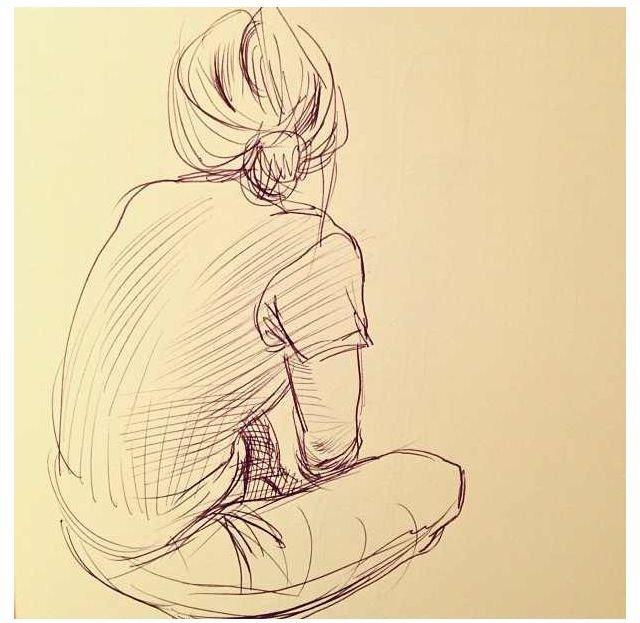 Картинки сидящих спиной