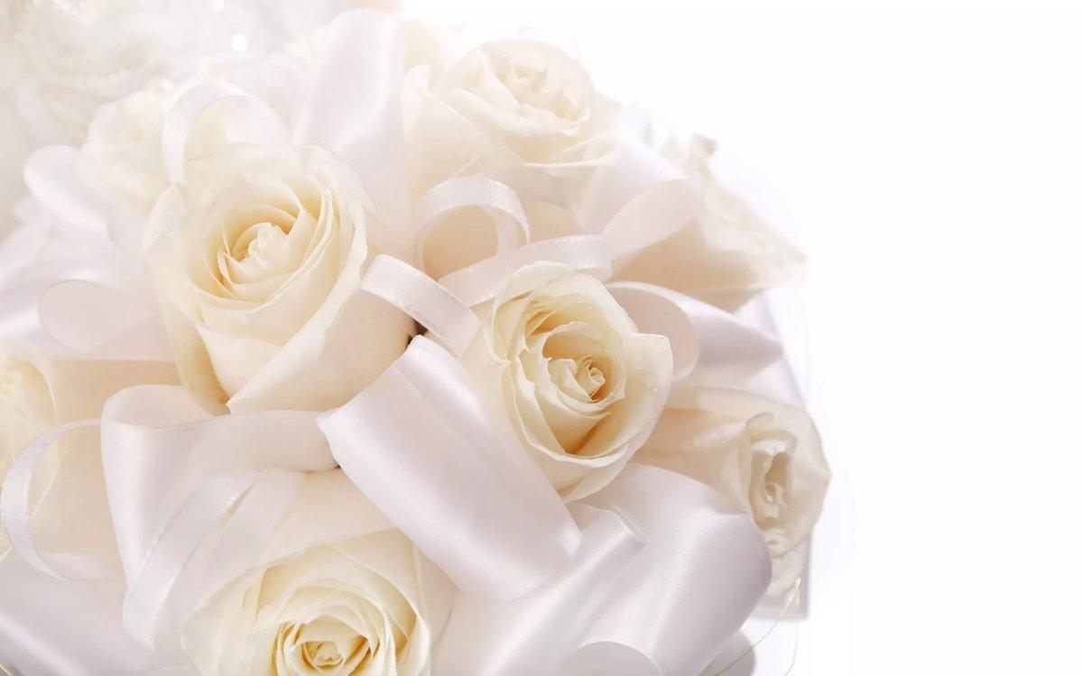 Открытка на свадьбу с розами
