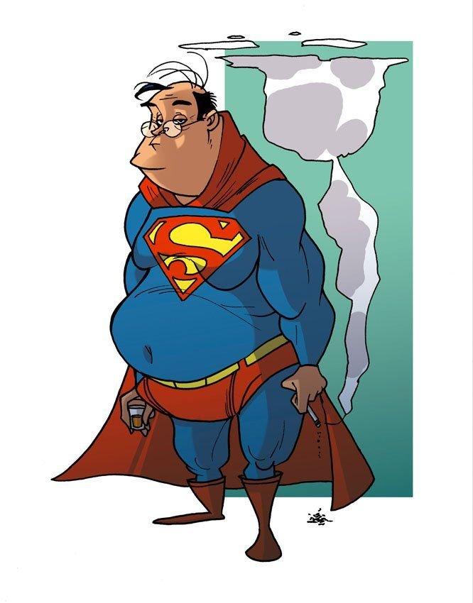 Супергерои рисунки смешные