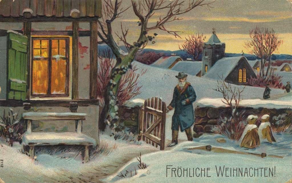 Скрапбукинг, рождество открытки немецкие