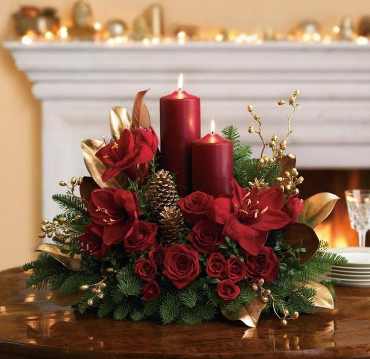 Флористика букеты новогодние, розы цветы букеты