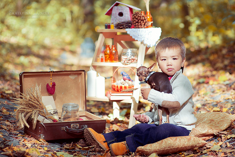 Осенняя фотосессия в студии идеи