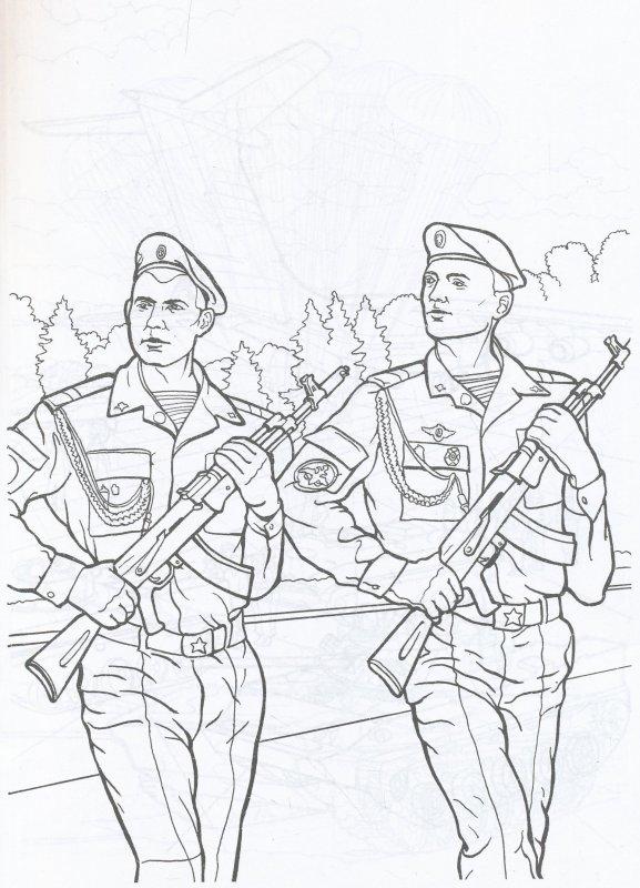 картинки карандашом солдаты в строю узнаете что