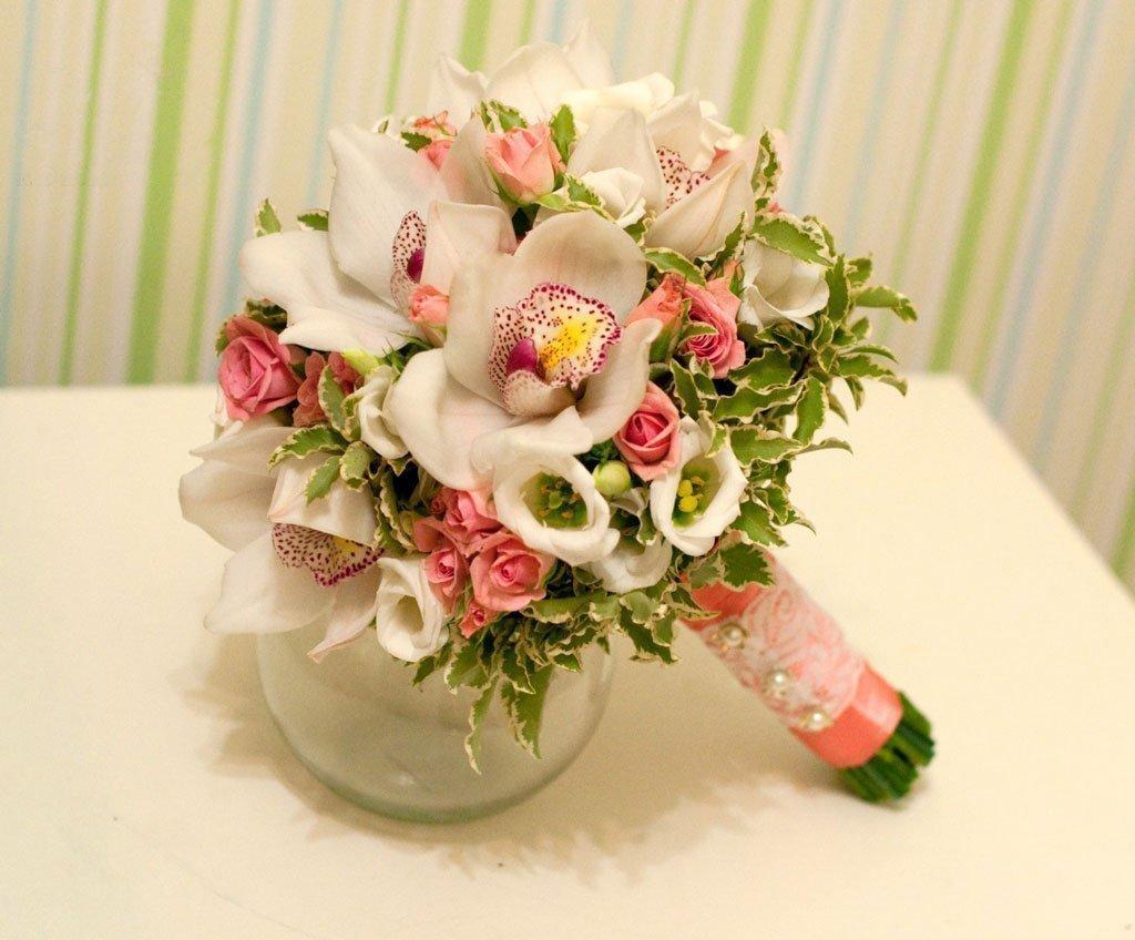 Свадебные букеты орхидей, цветы