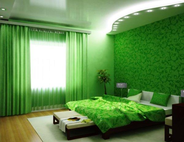 фото обои зеленого цвета