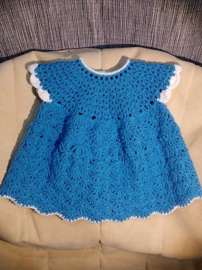 Вязание платья крючком для девочки до 1 года. Видео Вяжем детям 40