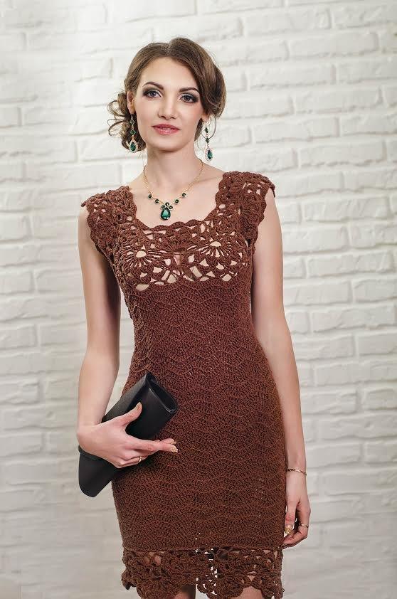 нарядные платья вязанные крючком фото правильно подобрать модель