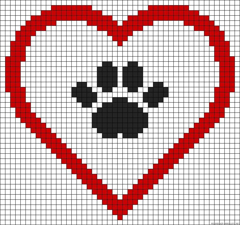 Картинки квадратиками сердце