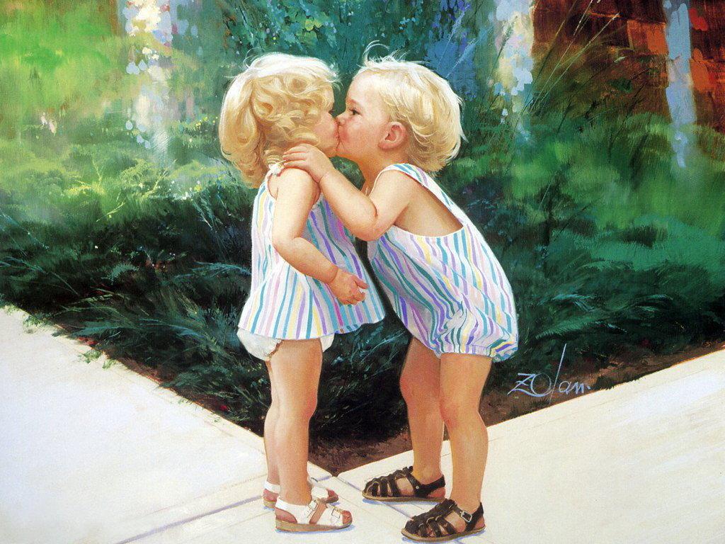 Смешные девочки и мальчики картинки, поздравления