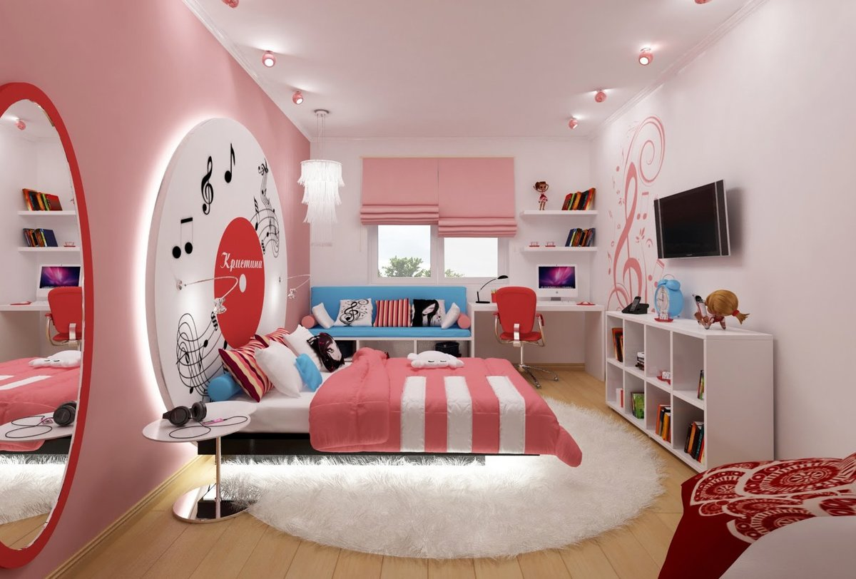 Технике, картинки комнаты для детей девочек