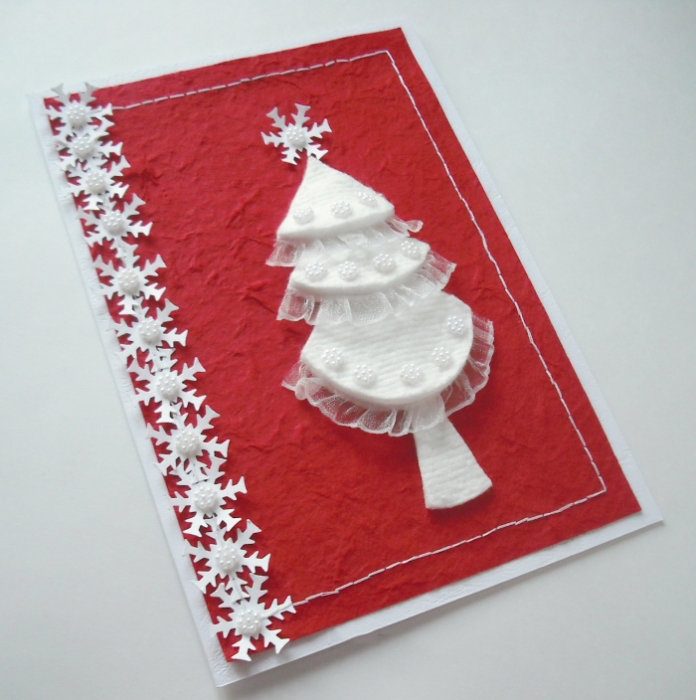 каталоге мастер класс по изготовлению новогодней открытки своими руками из салфеток этот