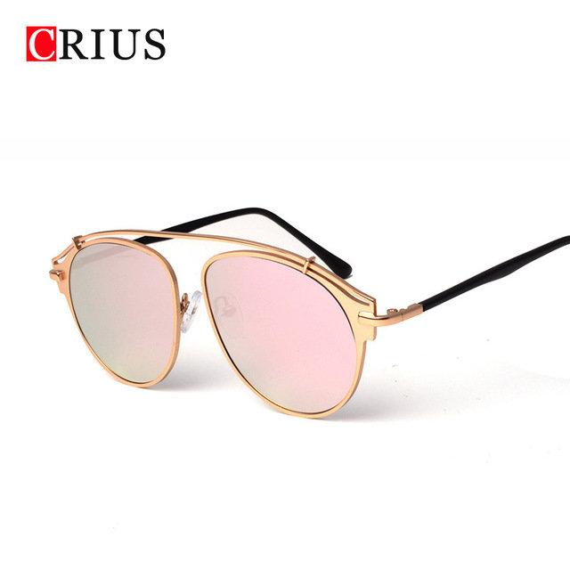 6a11eea7ebf1 Купить товар H crius фирменный дизайн Новинка 2017 года женские  солнцезащитные очки Женщины Большой кадр солнцезащитные