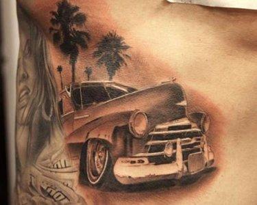 ескіз тату автомобіль porsche