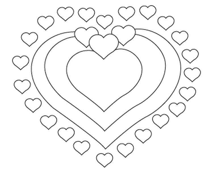 Открытка сердечка раскраска, открытка коллеге