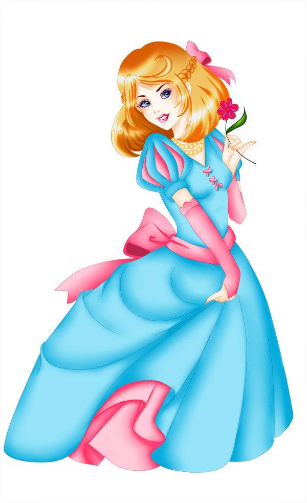 Картинка принцесса с подарком