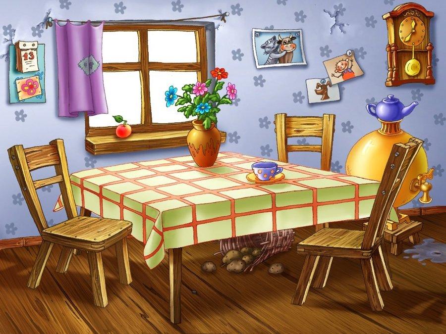 Лет, кухня в картинках для детей