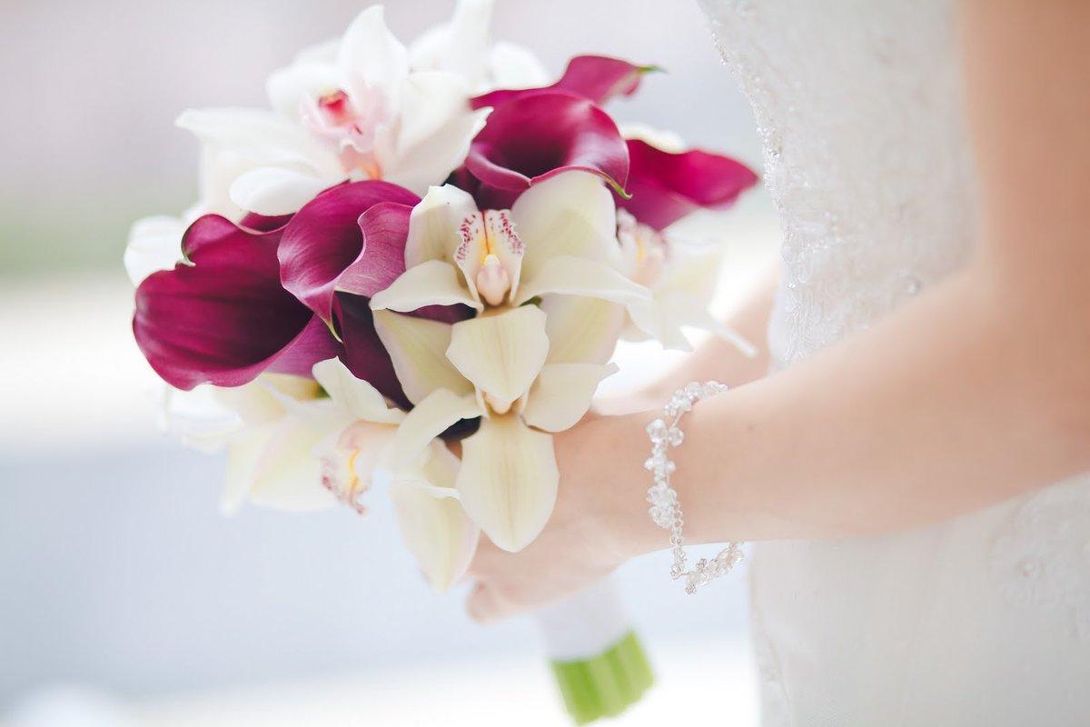 Цветов, свадебные букеты орхидей