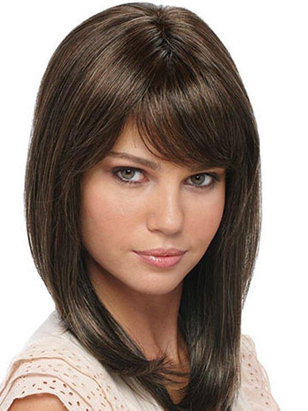 прически для средних волос фото с челкой правильно связать самостоятельно