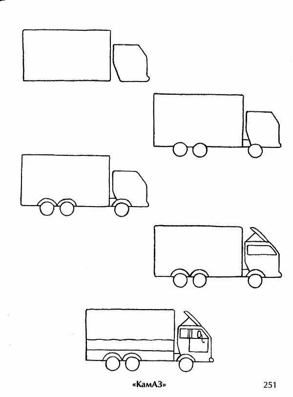 Грузовая машина рисунки карандашом секреты