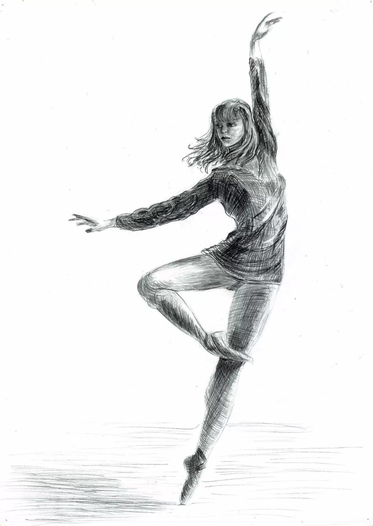 танцующий человек картинки карандашом квартиру подай