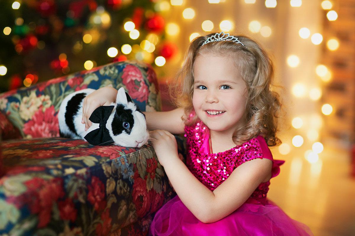 Новогодние фотосессии с кроликом