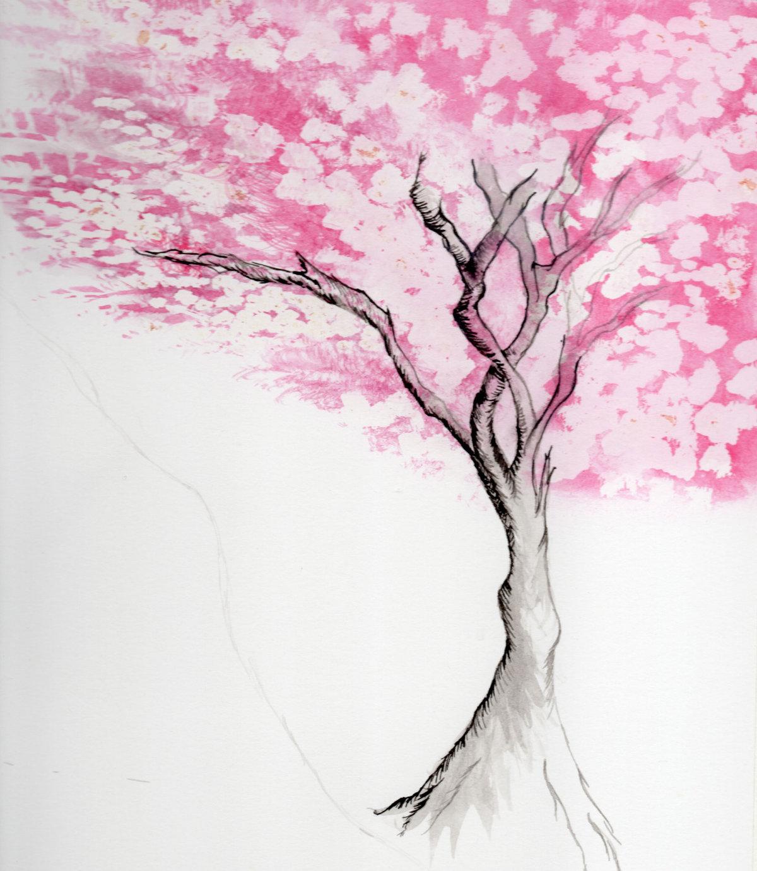 Как жаль, деревья картинки красивые нарисованные