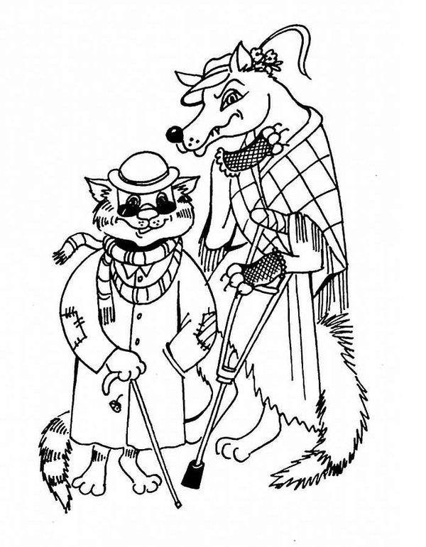 Есаулов Илья - кот Базилио и лиса Алиса | Иллюстрации, Иллюстратор ... | 771x600