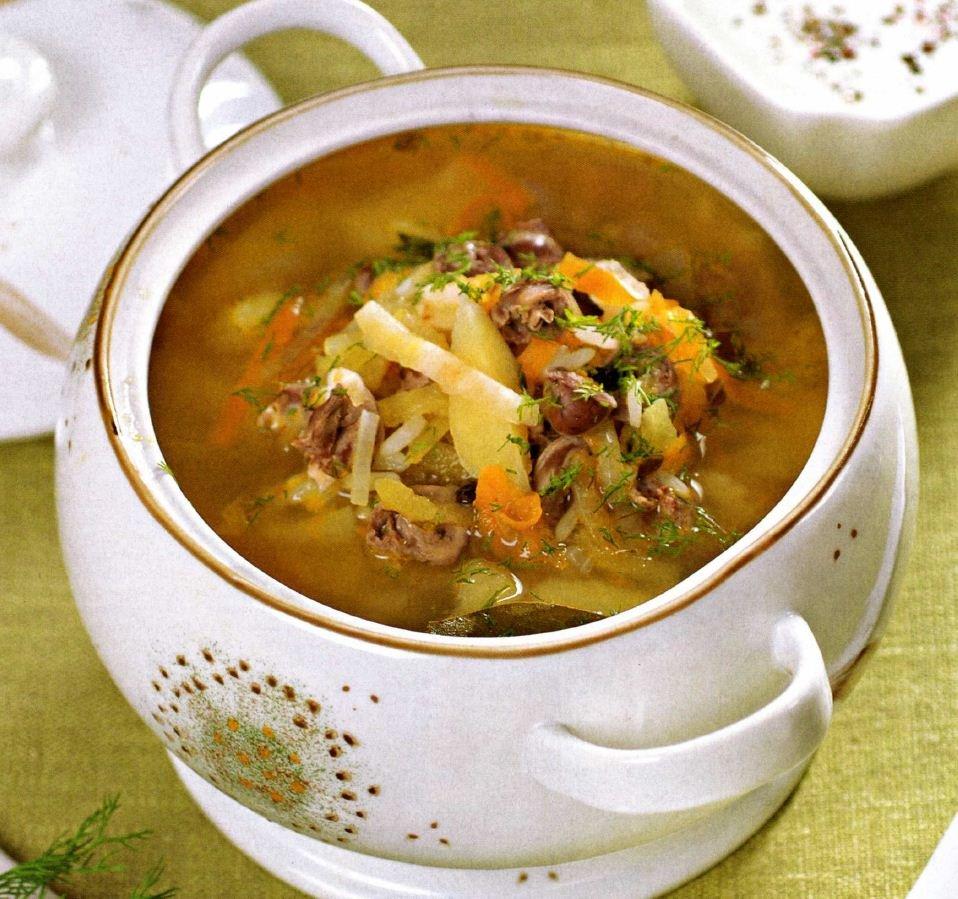 Суп из куриной печени рецепт с фото