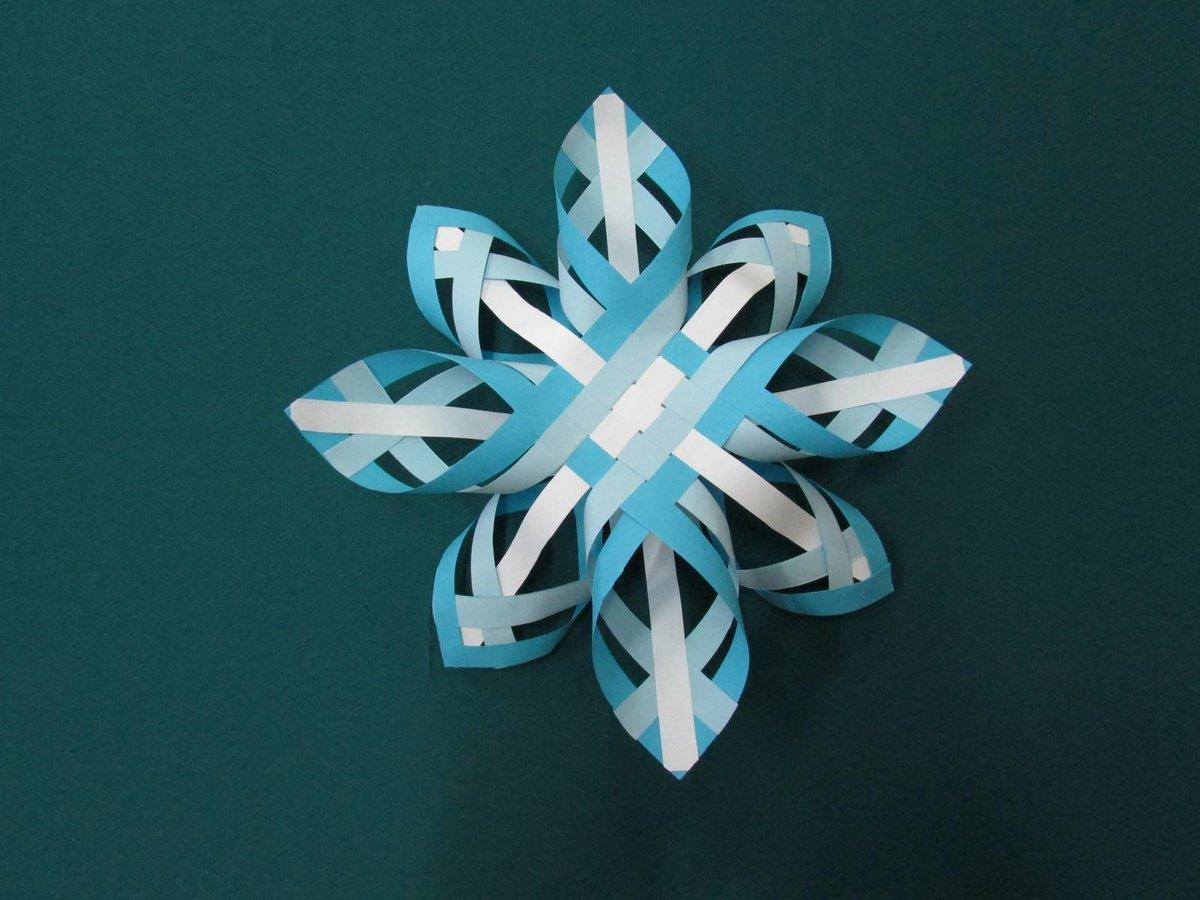 Объемные новогодние снежинки из бумаги своими руками схемы шаблоны