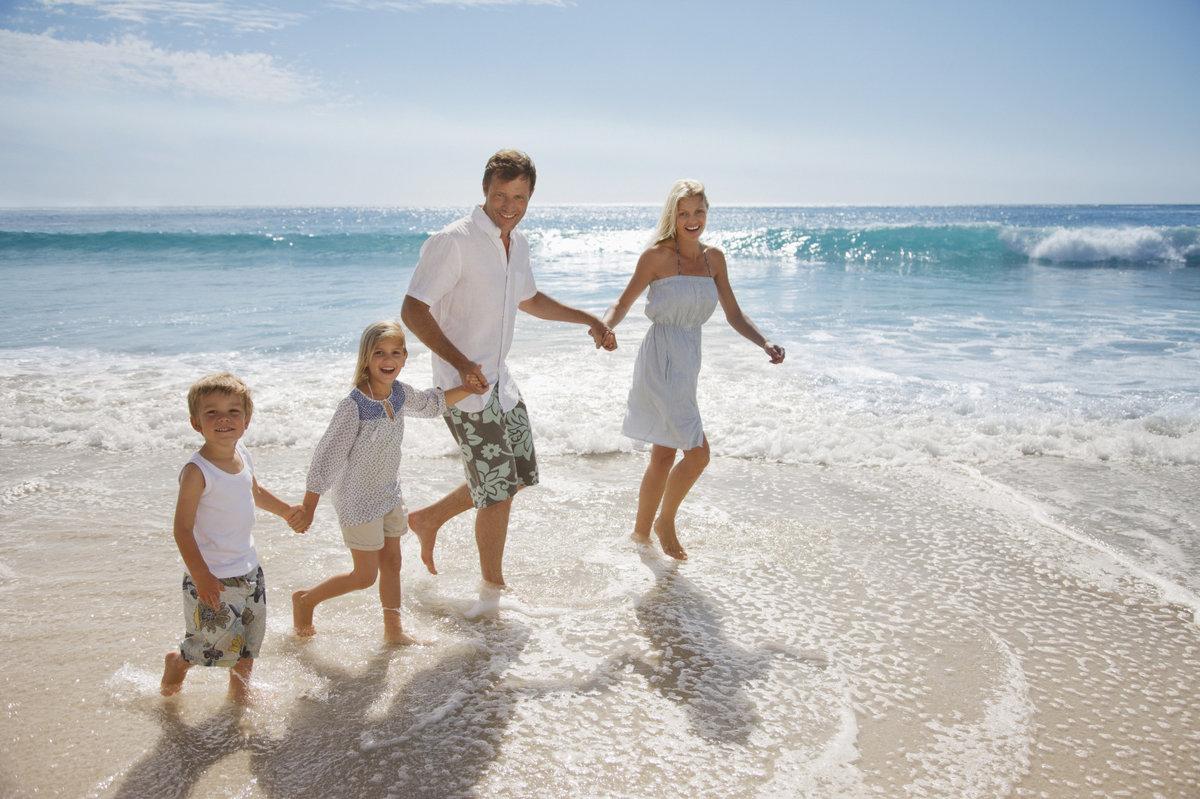 Картинки семья с детьми на море, картинки
