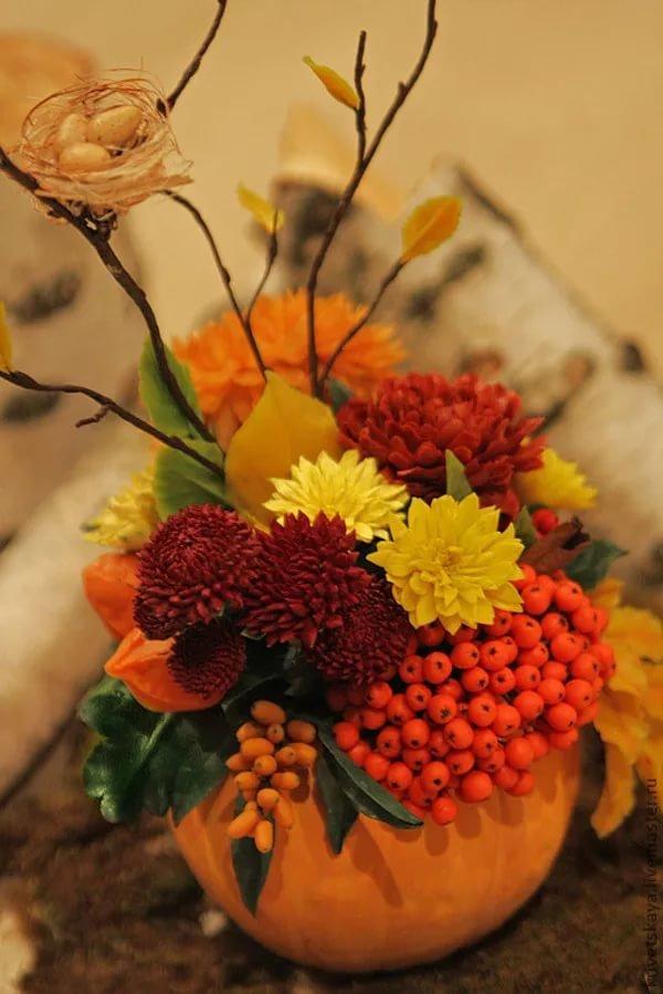 Невесты, осенние букеты и композиции из цветов своими руками