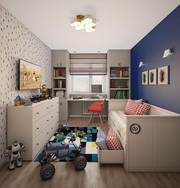 Мебельную обстановку выбирают по росту ребёнка.