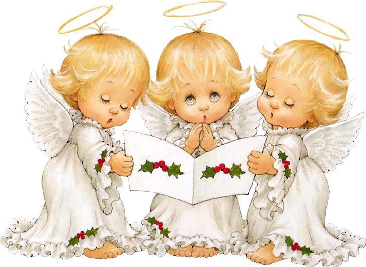 Спецназ, открытка с рождественскими ангелочками