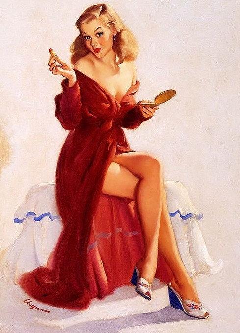 Картинка для, рисованные девушки с открыток