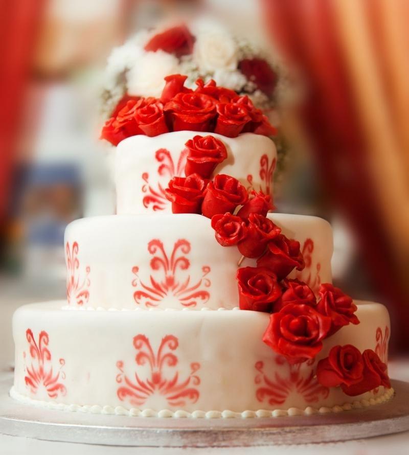 Открытка торт свадебный
