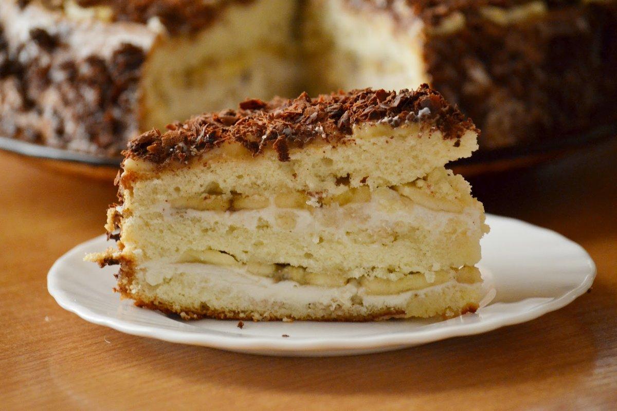 Банановый торт простой рецепт с фото